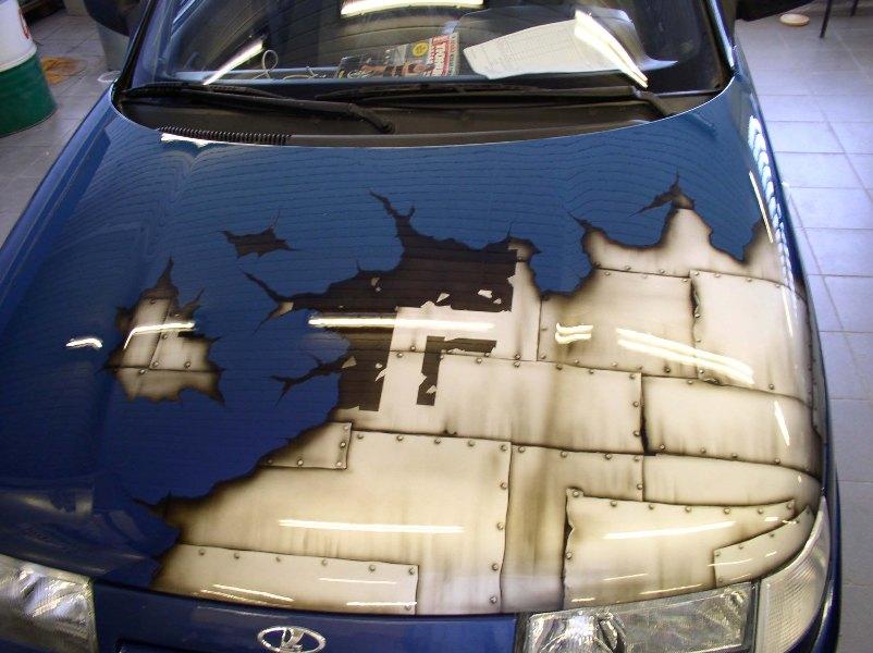 Рисунки на дверях своими руками авто